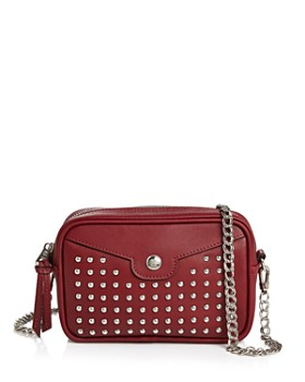 752bcd53cd84 Longchamp - Mademoiselle Rock Studded Leather Crossbody ...