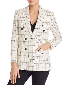 Rebecca Taylor - Plaid Tweed Blazer