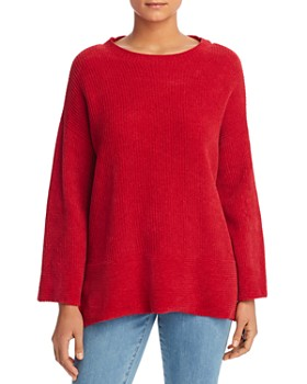 Eileen Fisher Petites - Chenille Drop Shoulder Sweater