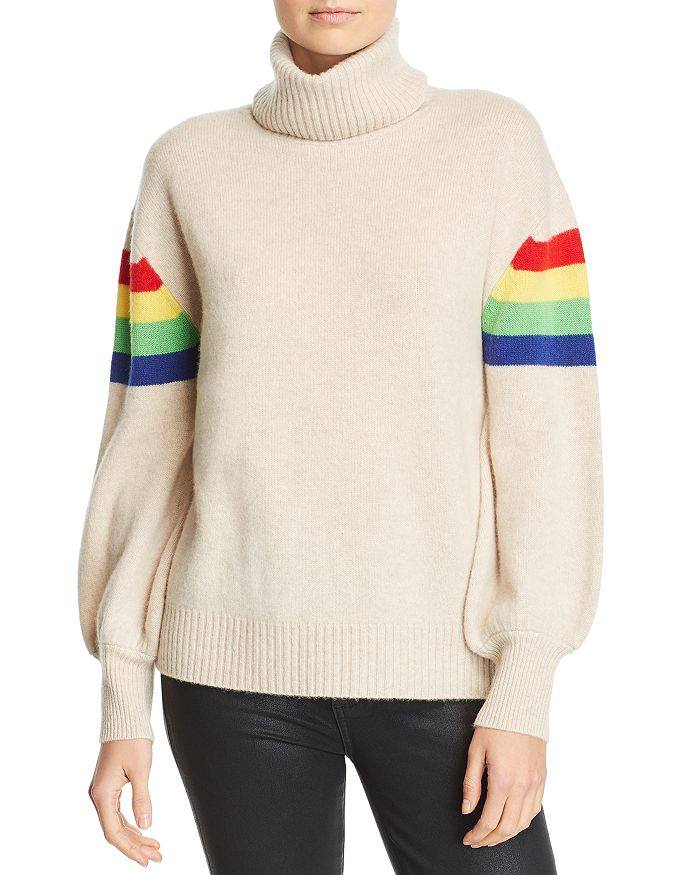 Madeleine Thompson - Rainbow-Stripe Cashmere Turtleneck Sweater