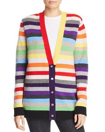 Madeleine Thompson - Rainbow-Stripe Cashmere Cardigan