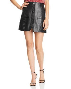 Ramy Brook Aster Leather Mini Skirt
