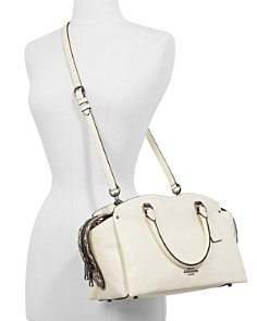 COACH - Drew Leather & Snakeskin Satchel
