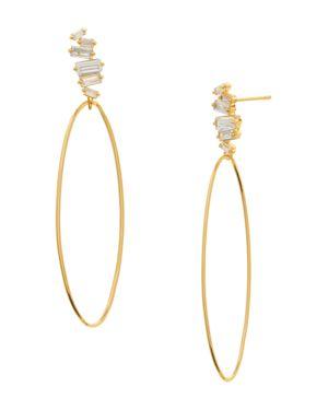 Gorjana Amara Oval Hoop Drop Earrings