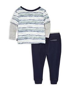Splendid - Boys' Reverse-Stripe Layered Tee & Jogger Pants Set - Baby