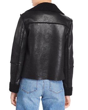 Vigoss - Faux Shearling Open-Front Jacket