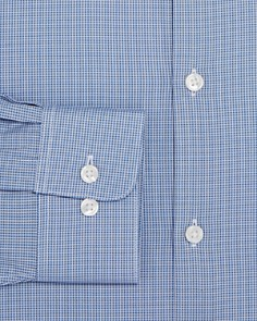 John Varvatos Star USA - Micro-Check Regular Fit Dress Shirt