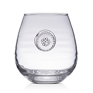 Juliska Berry & Thread Glassware Stemless Red Wine Glass