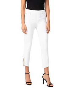 Liverpool - Chloe Pull-On Cropped Skinny Jeans in Bright White