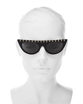 Valentino - Women's Rockstud Cat Eye Sunglasses, 52mm