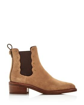 online retailer 6aea1 7edc4 ... COACH - Women s Bowery Pointed-Toe Block-Heel Booties