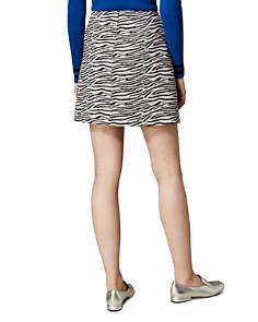 KAREN MILLEN - Zebra A-Line Mini Skirt