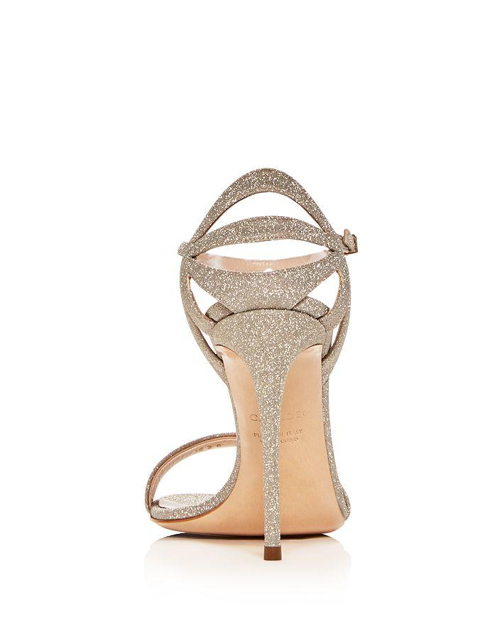 e6485cecf0d Casadei - Women s Glitter Ankle-Strap High-Heel Sandals