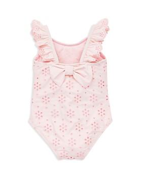 Little Me - Girls' Eyelet Ruffled Swimsuit - Baby