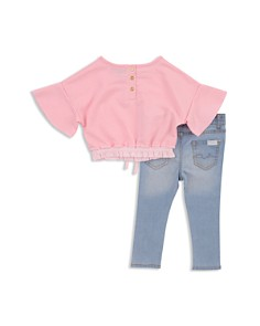 7 For All Mankind - Girls' Drawstring Top & Jeans Set - Baby