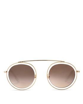 Krewe - Women's Conti 24K Round Sunglasses, 48mm