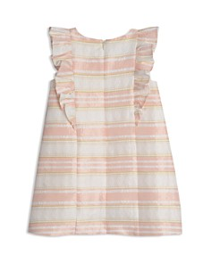 Pippa & Julie - Girls' Striped Floral-Brocade Ruffled Dress - Baby