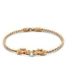 JOHN HARDY - 18K Yellow Gold Legends Naga Bracelet with Diamond Pavé & African Ruby