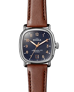 Shinola - The Guardian Brown Leather Watch, 36mm