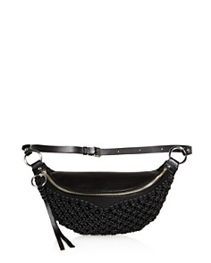 Rebecca Minkoff - Bree Leather Macrame Belt Bag