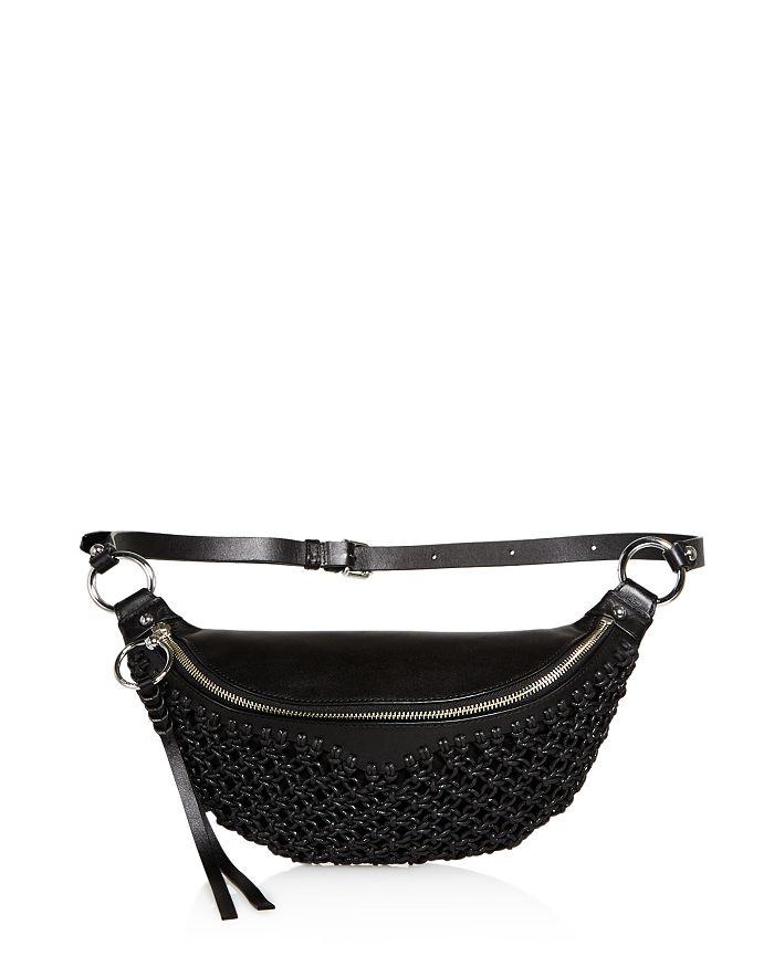 Rebecca Minkoff - Bree Leather Macrame Belt Bag