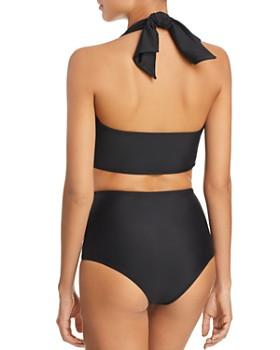 Paper London - Fiji Halter Bikini Top & Fiji High-Waist Bikini Bottom