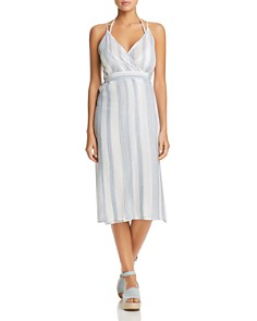 J. Valdi - Sardinia Wrap Midi Dress Swim Cover-Up
