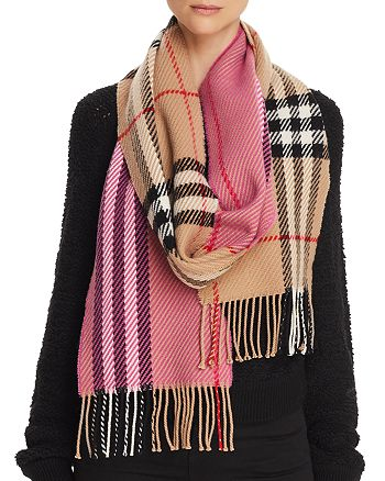 Burberry - Giant Check Color-Block Wool Scarf