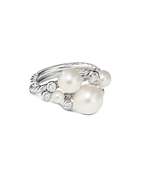 David Yurman - Pearl Cluster Ring with Diamonds