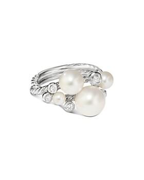 David Yurman - Pearl Cluster Ring with Diamonds