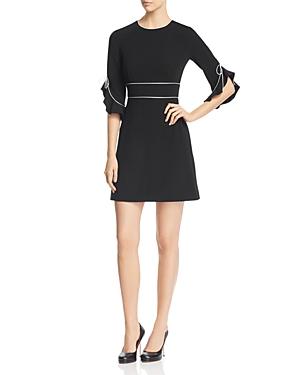 Paule Ka Piped Flared-Cuff Mini Dress