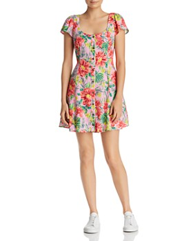 7981275ee3f Lost and Wander - Mai Tai Tropical Floral Mini Dress ...