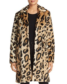 Vero Moda - Lila Leopard Faux-Fur Coat