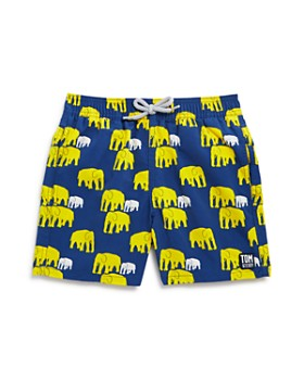 TOM & TEDDY - Boys' Elephant Print Swim Trunks - Little Kid, Big Kid