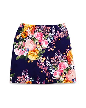AQUA - Girls' Floral A-Line Skirt - Big Kid - 100% Exclusive