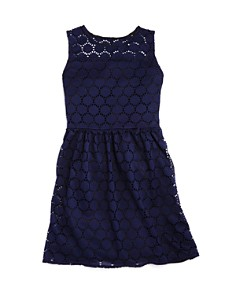 AQUA - Girls' Sleeveless Disc-Lace Dress - Big Kid - 100% Exclusive
