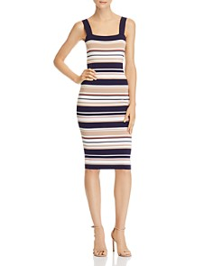 Bardot - Striped Body-Con Midi Dress