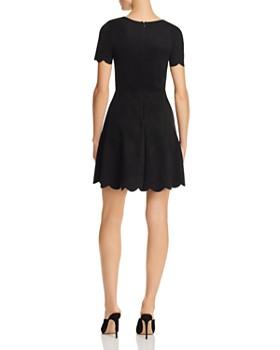 AQUA - Scalloped Faux-Suede Dress - 100% Exclusive