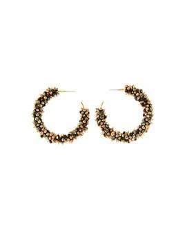Oscar de la Renta - Beaded Hoop Earrings