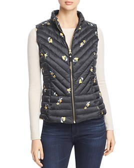 Joules - Brindley Floral Quilted Gilet