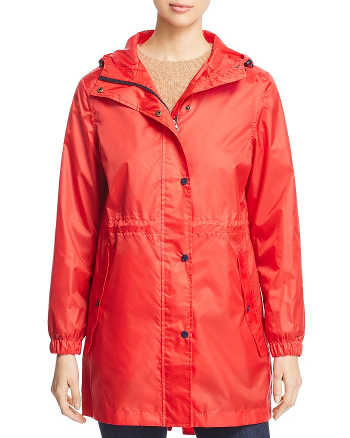 Joules Golightly Packable Raincoat In Red