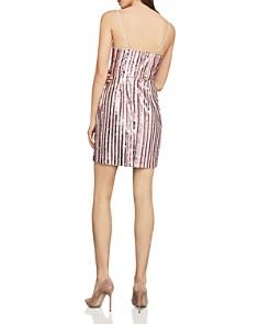BCBGMAXAZRIA - Sequined Faux-Wrap Dress