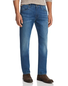 PAIGE - Federal Straight Slim Jeans in Bales