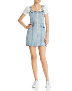 Pistola - Nina Zip-Front Denim Jumper Dress