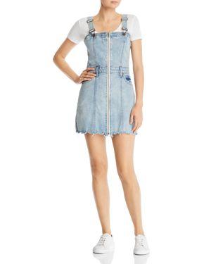 Pistola Nina Zip-Front Denim Jumper Dress