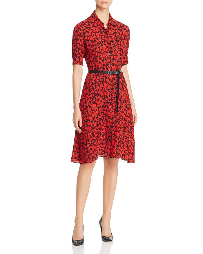 3c4f2a7f76f5c Elie Tahari Aisha Belted Floral Print Shirt Dress | Bloomingdale's