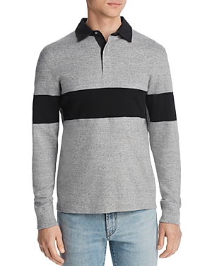 Reigning Champ T-shirts STRIPE-TRIMMED REGULAR FIT RUGBY SHIRT