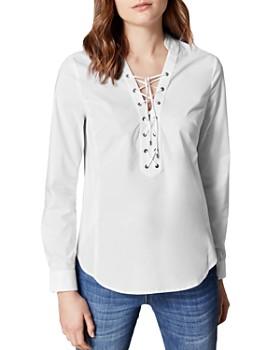 13799b84c135e KAREN MILLEN - Lace-Up Shirt ...