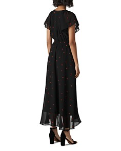 Whistles - Heart-Embroidered Wrap Dress
