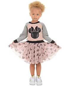Pippa & Julie - Disney Girls' Mickey Sweatshirt & Skirt Set - Little Kid